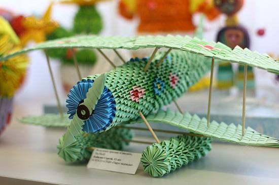 самолет в технике модульное оригами