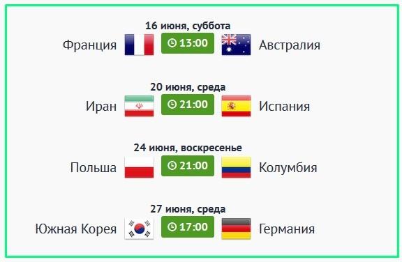 чм 2018 какие матчи пройдут в Казани