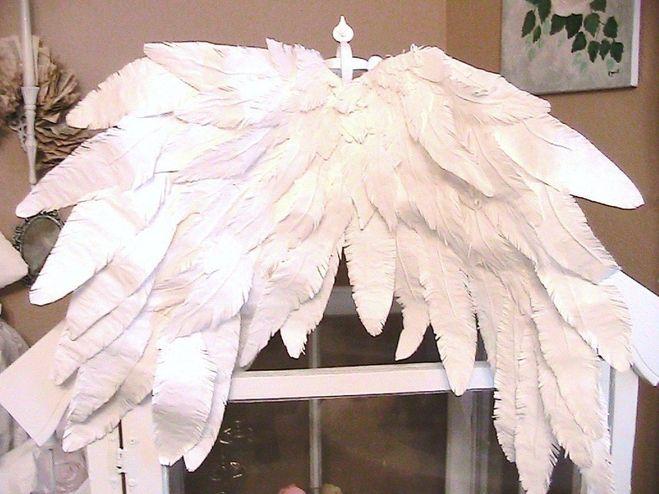 Как сделать крылья Ангела для детского костюма из бумаги своими руками?