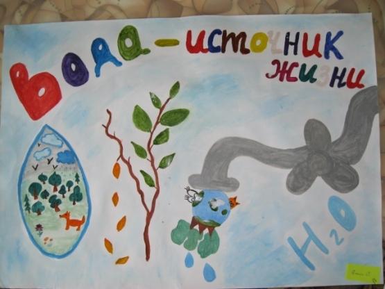 Нарисовать плакат берегите воду 3 класса