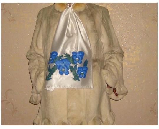 Подарок своими руками - шарфик в стиле батика. МК для детей