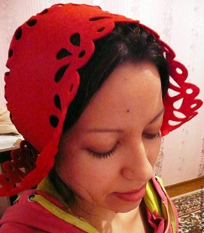 Мастер-класс фото Красная Шапочка из фетра
