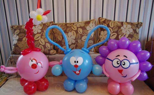 Как сделать зайца из воздушных шаров фото 994