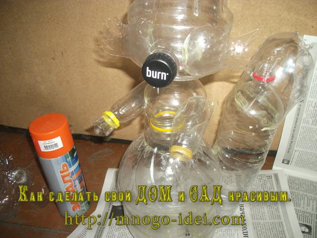 Белочка из пластиковых бутылок своими руками