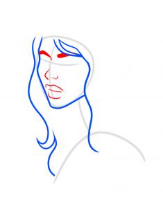 Как нарисовать девушку для открытки 71
