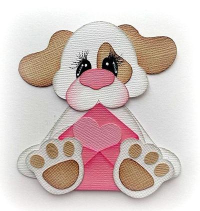 собака-открытка