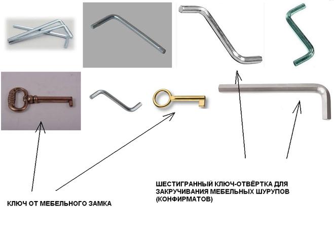 мебельный ключ, конфирмат, еврошуруп, мебельный шуруп, мебельный замок
